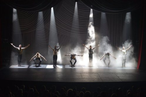 The  Bohemian Rhapsody  number, featuring the men of the company, is a superb highlight of the show. Photo courtesy of Shaping Sound.