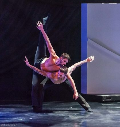 Ricky Ubeda and Travis Wall's duet is artistic brilliance. Photo courtesy of David Hoffman.