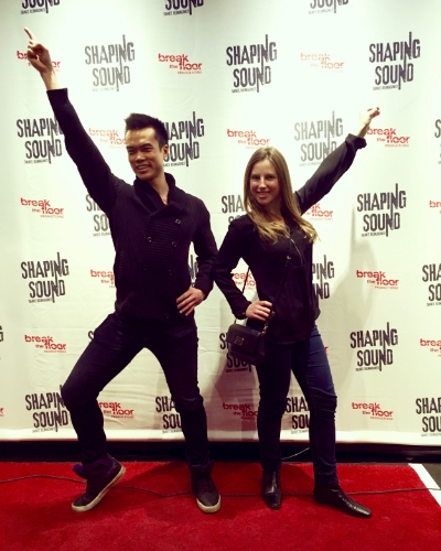 Me and my friend Madeline strike a pose at Shaping Sound.