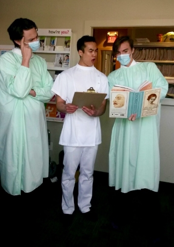 In addition to playing pilots, the multi-talented guys in the cast also play doctors.