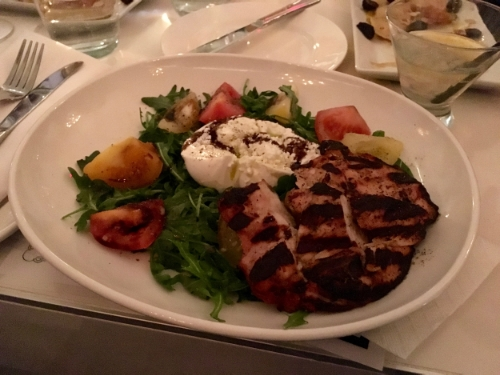 If you order the Caprese Salad, I highly recommend getting it with chicken.