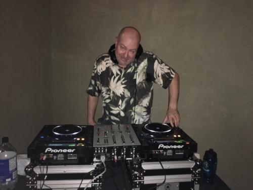 Scott, one of the DJs at Friday night Yoga Vibe.