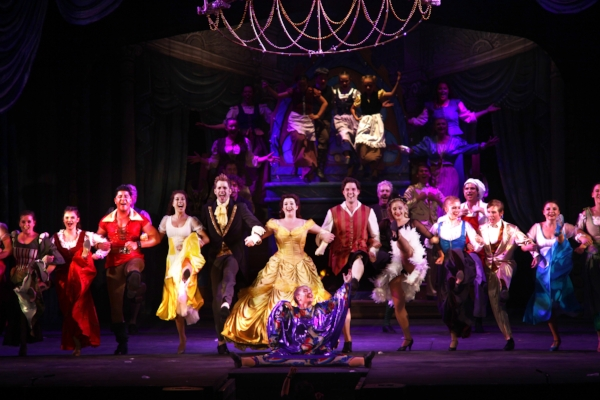 The brilliant cast led by Jaime Piercy as Belle (centre), kick their way in spectacular fashion to Shelley Stewart Hunt's marvelous choreography. Photo credit: Tim Matheson.