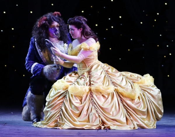Peter Monaghan as the Beast and Jaime Piercy as Belle. Photo credit: Tim Matheson.