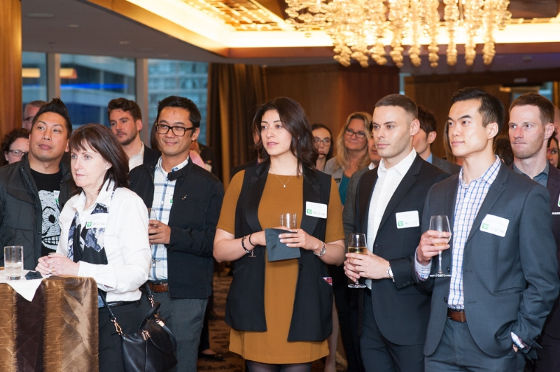 Event attendees gathered to network and listen to encouraging messages from presenters. Photo credit: Belle Ancell