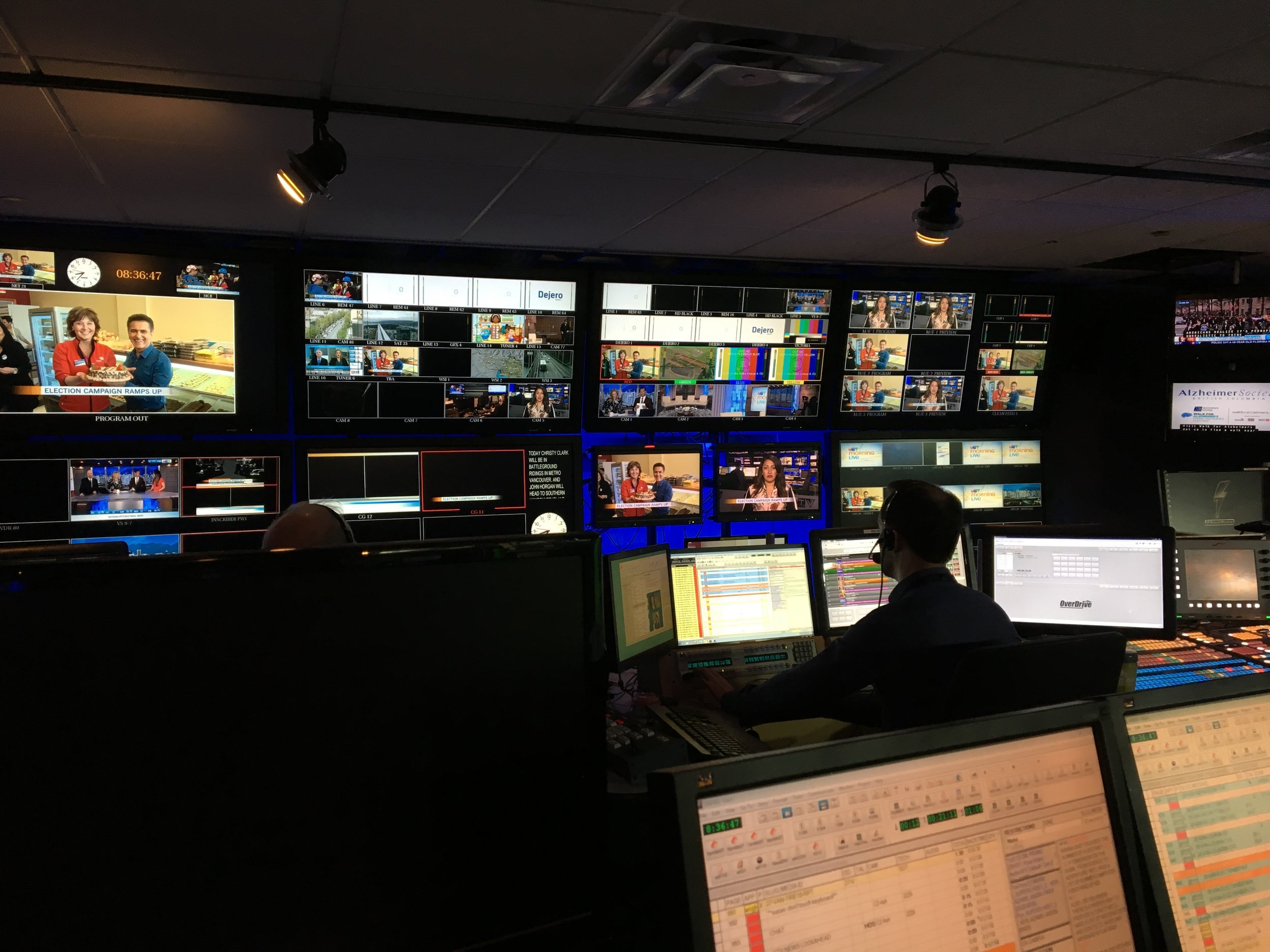 The control room at CTV Vancouver.
