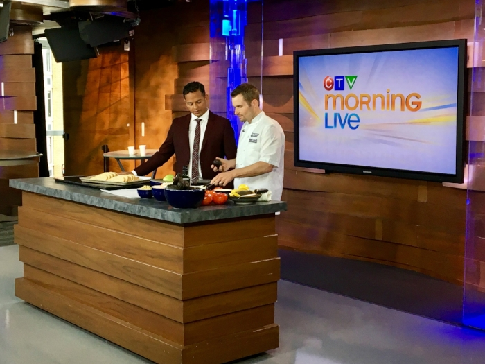 Vancouver Aquarium's Ocean Wise Executive Chef, Ned Bell, serves up some incredible avocado and toast while co-anchor Jason Pires looks on.