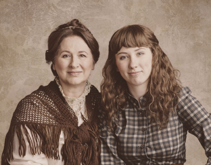 Real life mother and daughter, Monique and Michelle Creber as Marmee and Jo March. Photo: Kevin Clark