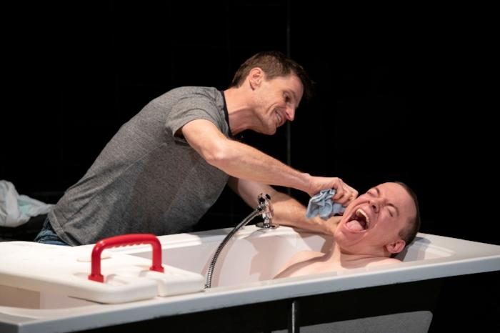 Bob Frazer as Jake and Adam Grant Warren as Joey. Photo credit: David Cooper