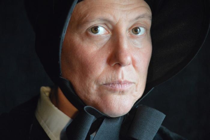 Tallulah Winkelman as Sister Aloysius. Photo credit: David Thomas Newham