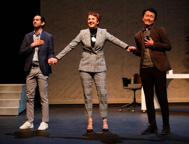 From left to right: Chirag Naik, Lois Anderson, and Derek Chan. Photo credit: Tim Matheson