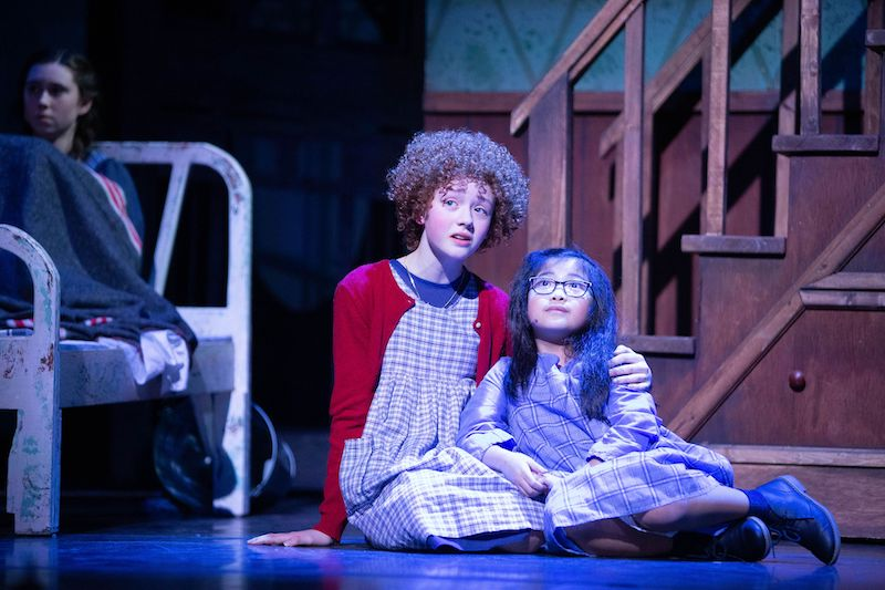 Camryn Macdonald as Annie, and Naomi Tan as Molly. Photo credit: Anita Alberto