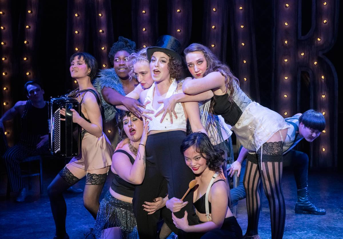 The company of Studio 58's Cabaret. Photo credit: David Cooper
