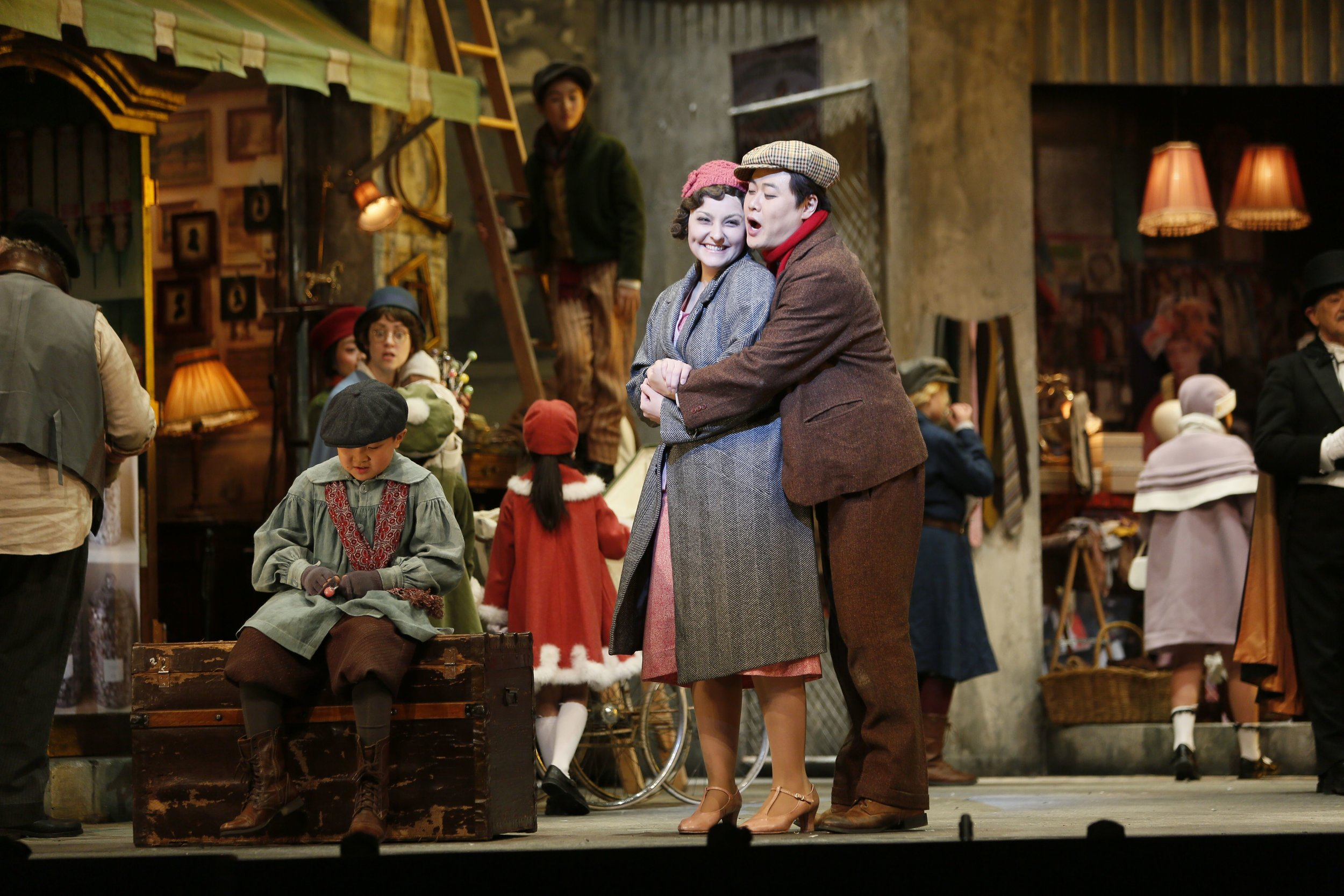 France Bellemare and Ji-Min Park star in Vancouver Opera's  La Bohème  . Photo credit: Tim Matheson
