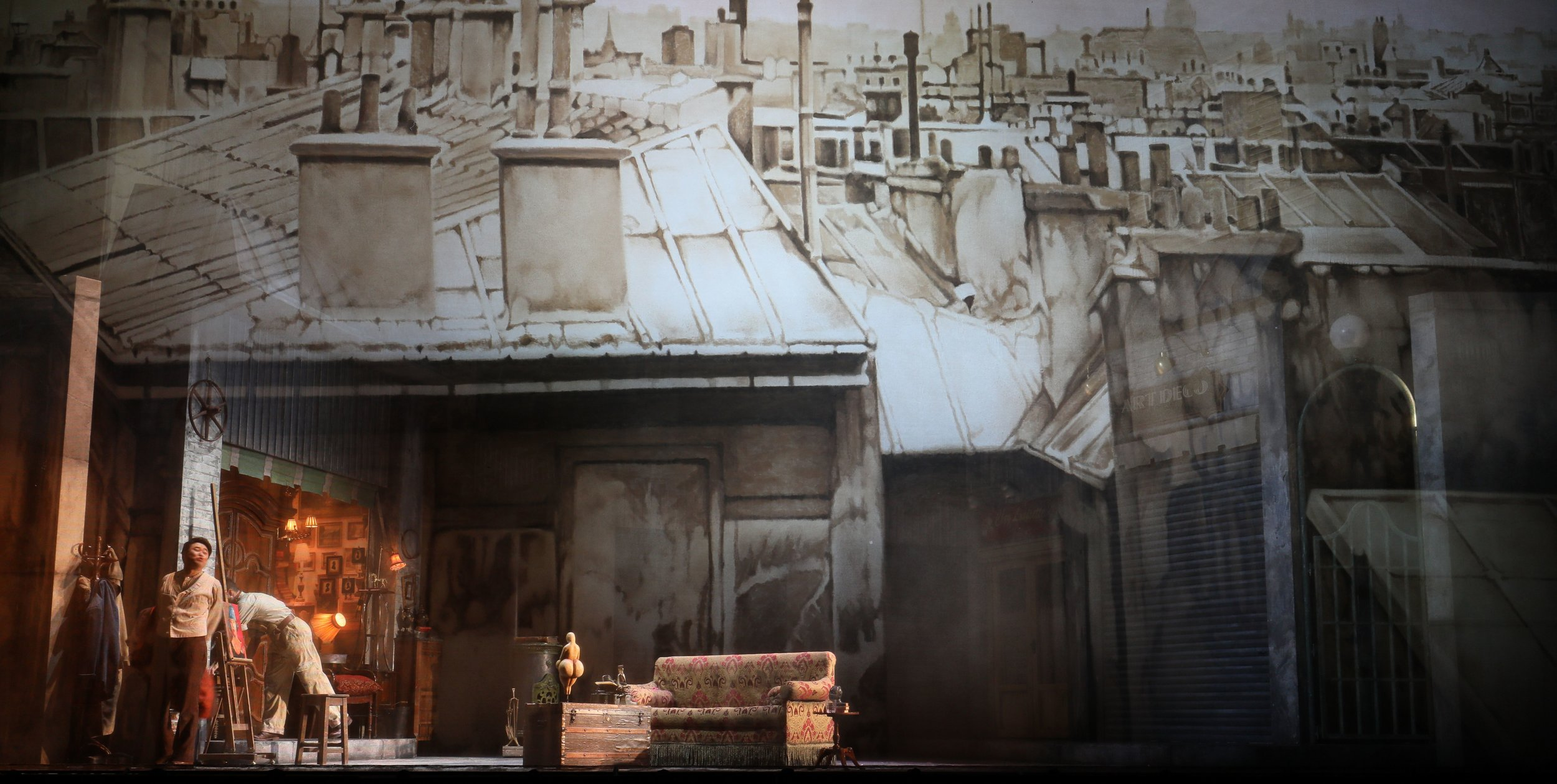 The gorgeous set design of André Barbe's, courtesy of Scottish Opera. Photo credit: Tim Matheson