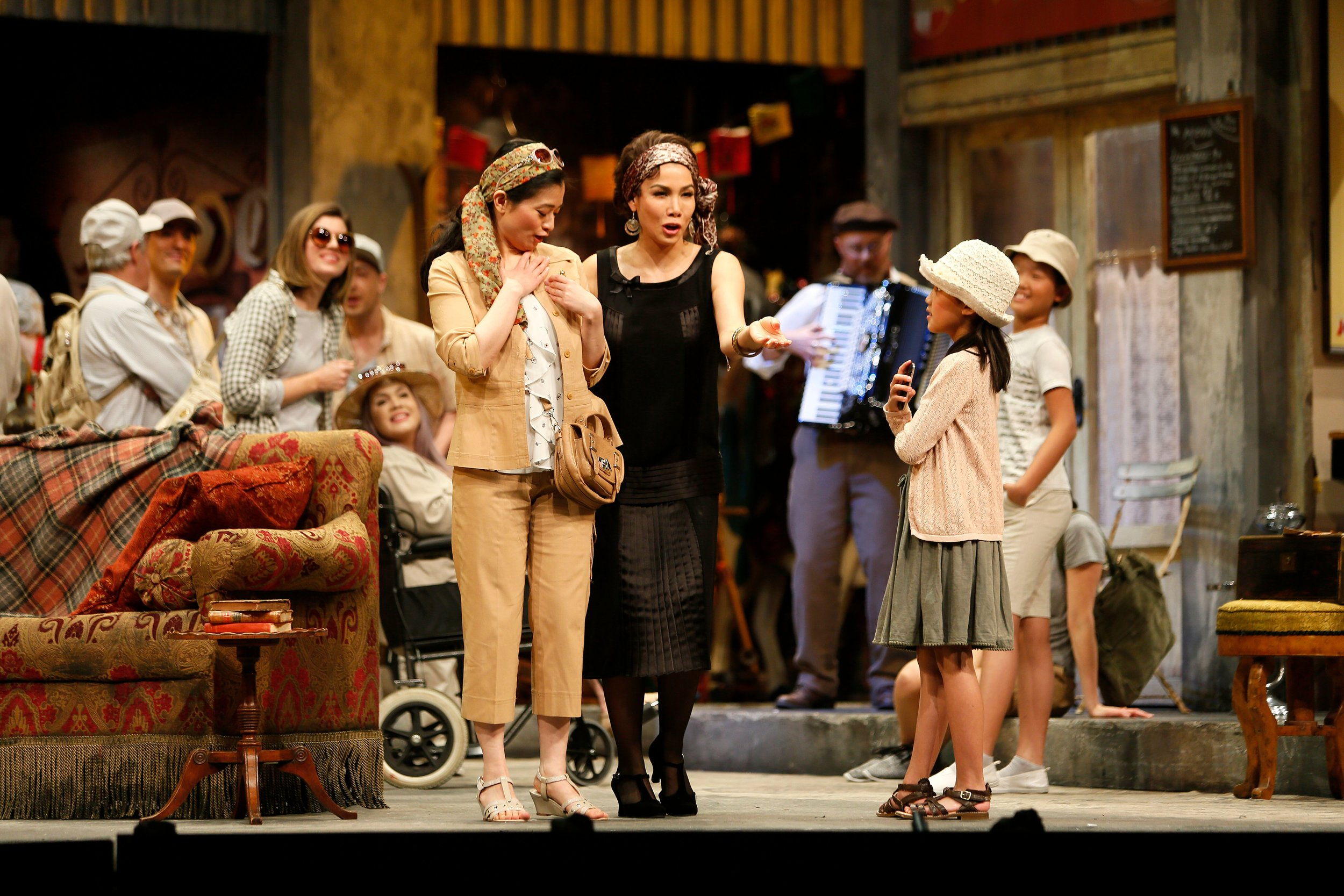 Vancouver Opera's prologue scene. Photo credit: Tim Matheson