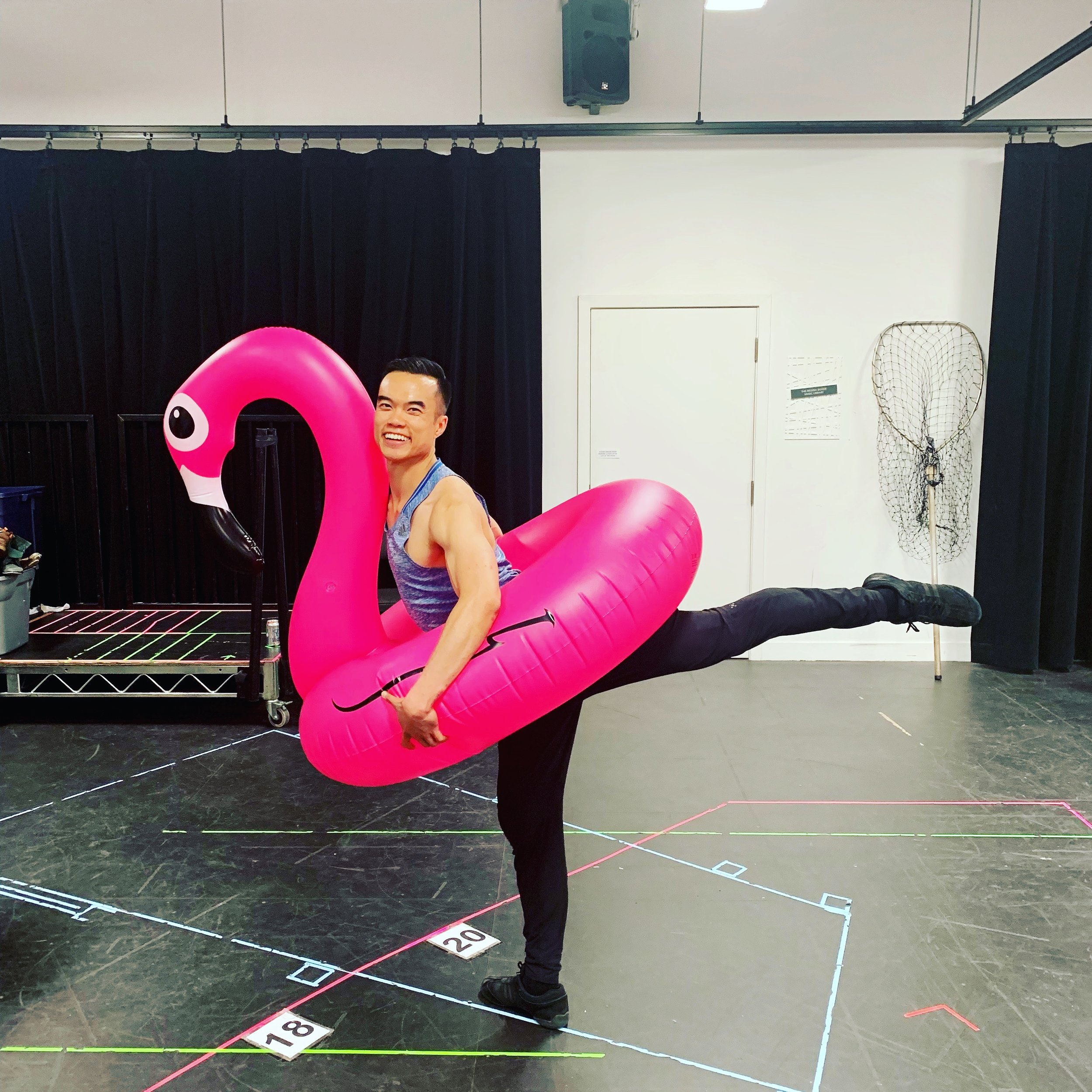 My dream to dance with a pink flamingo has come true!