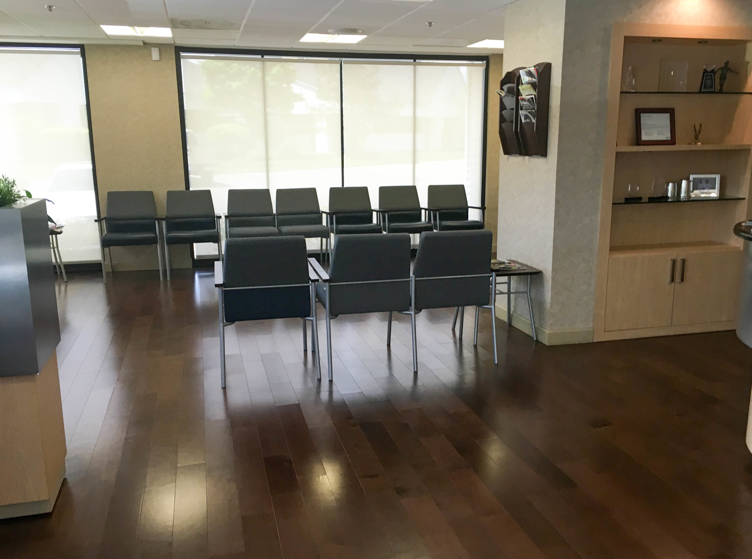 Waiting room space at West Bloomfield office