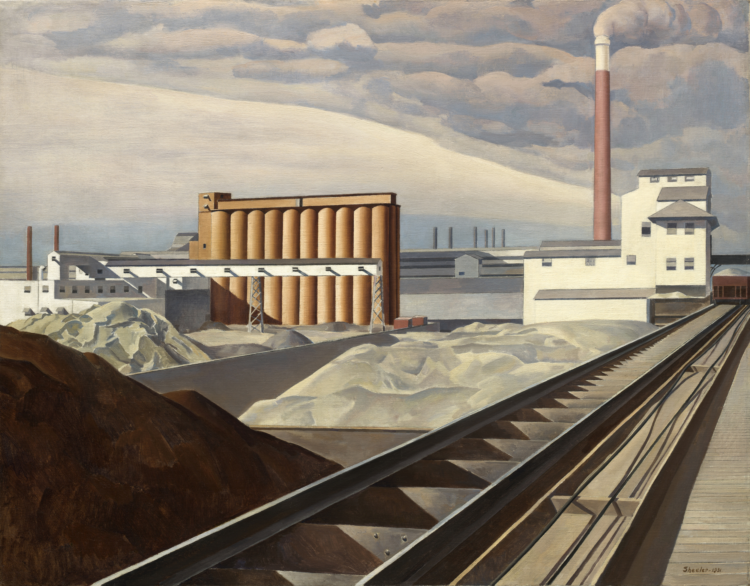 Charles Sheeler,  Classic Landscape , 1931. Photo Credit:  National Gallery of Art