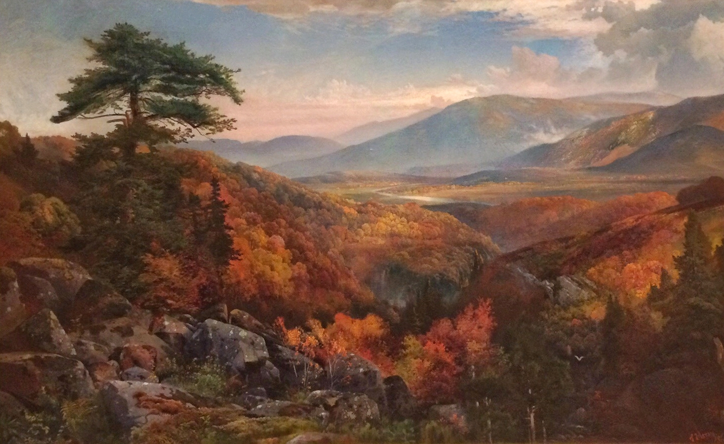 Thomas Moran,  Valley of the Catawissa in Autumn,  1862.