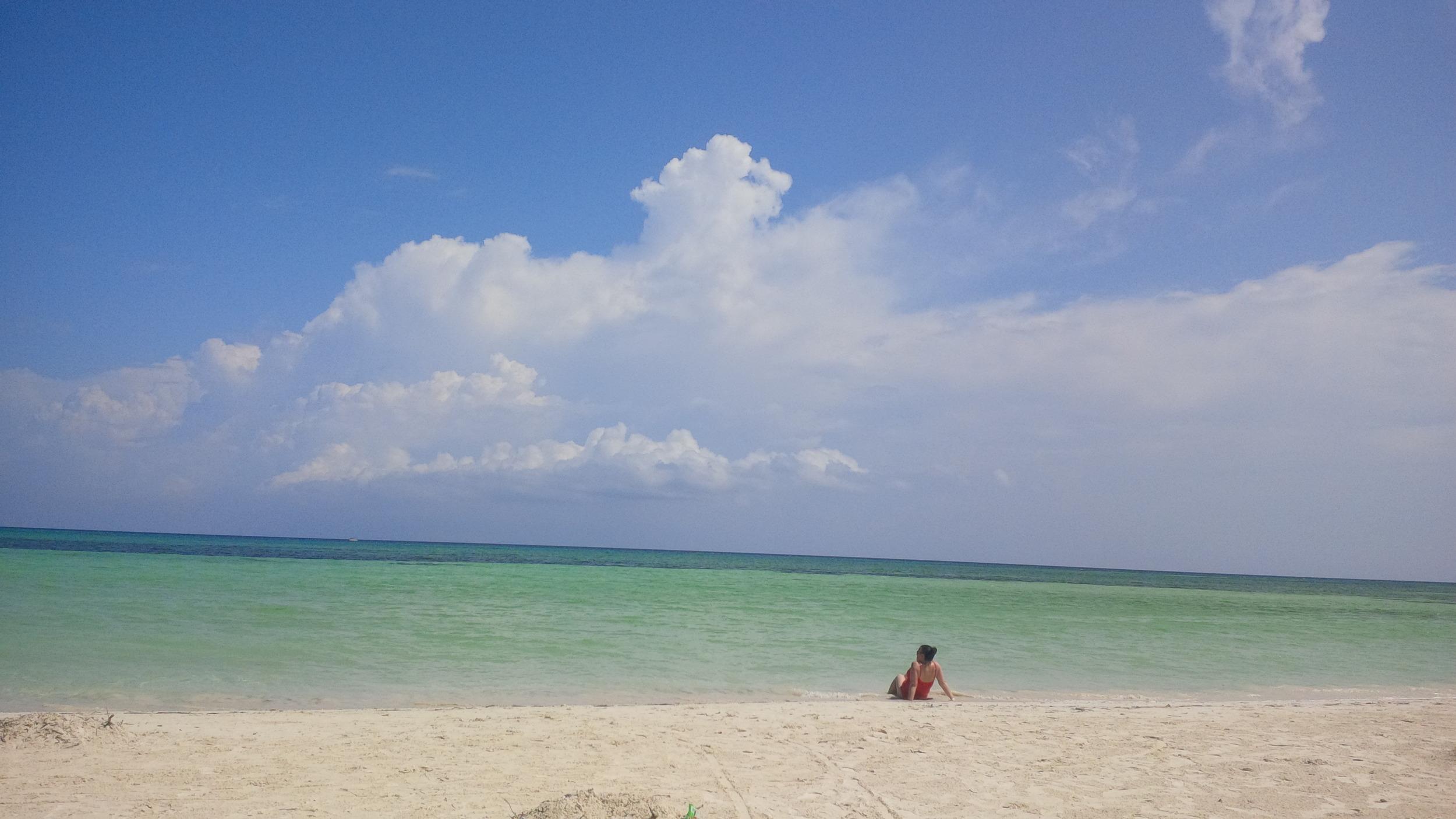 Diane and the ocean.jpg