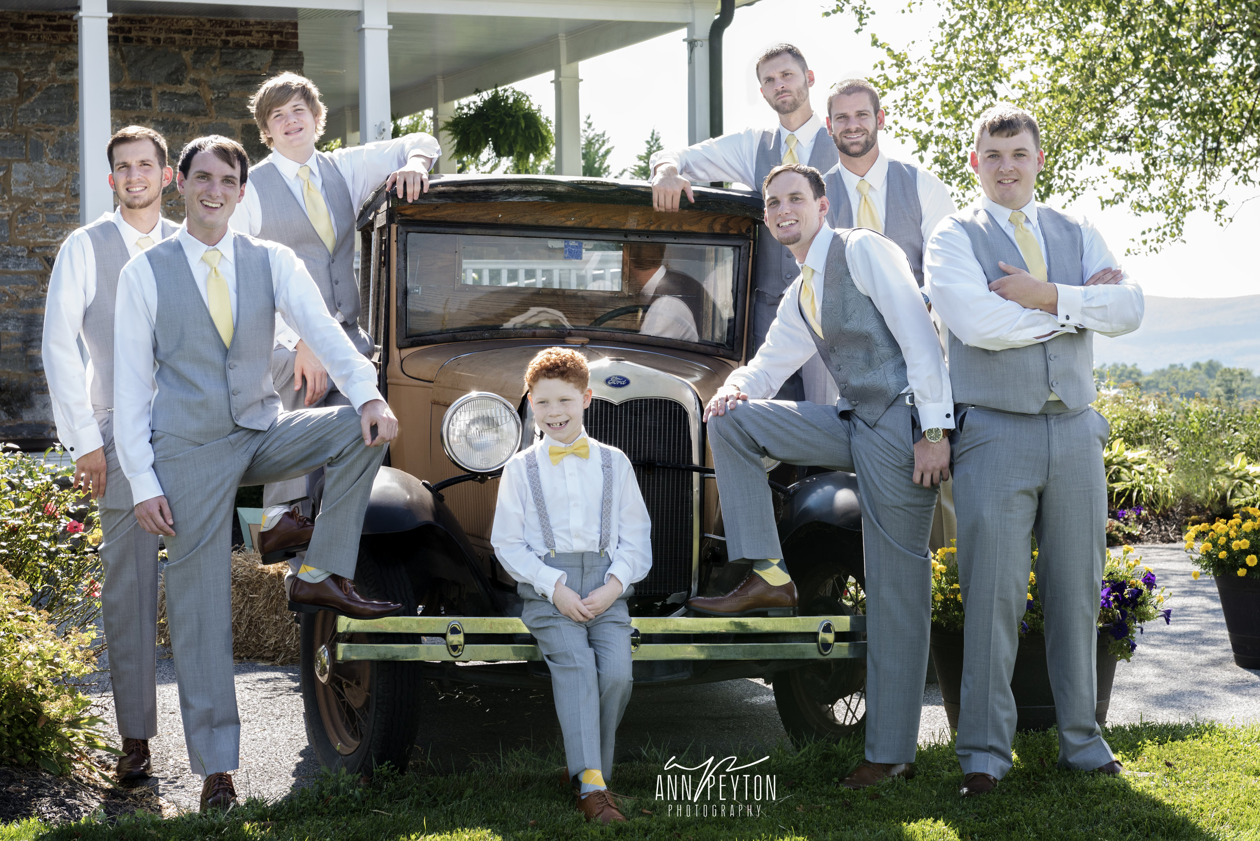 Travis with groomsmen