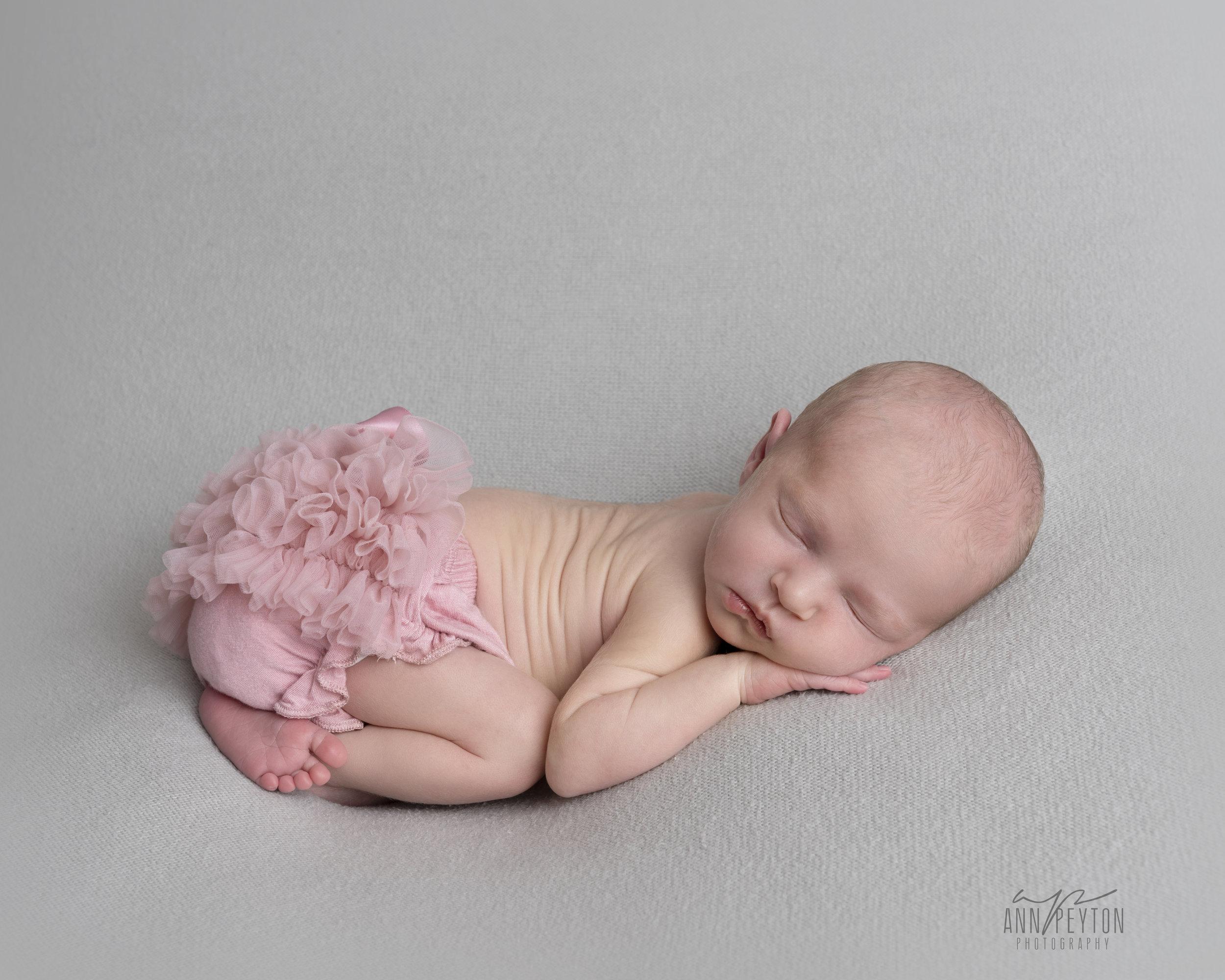 Newborn Hannah with Tutu
