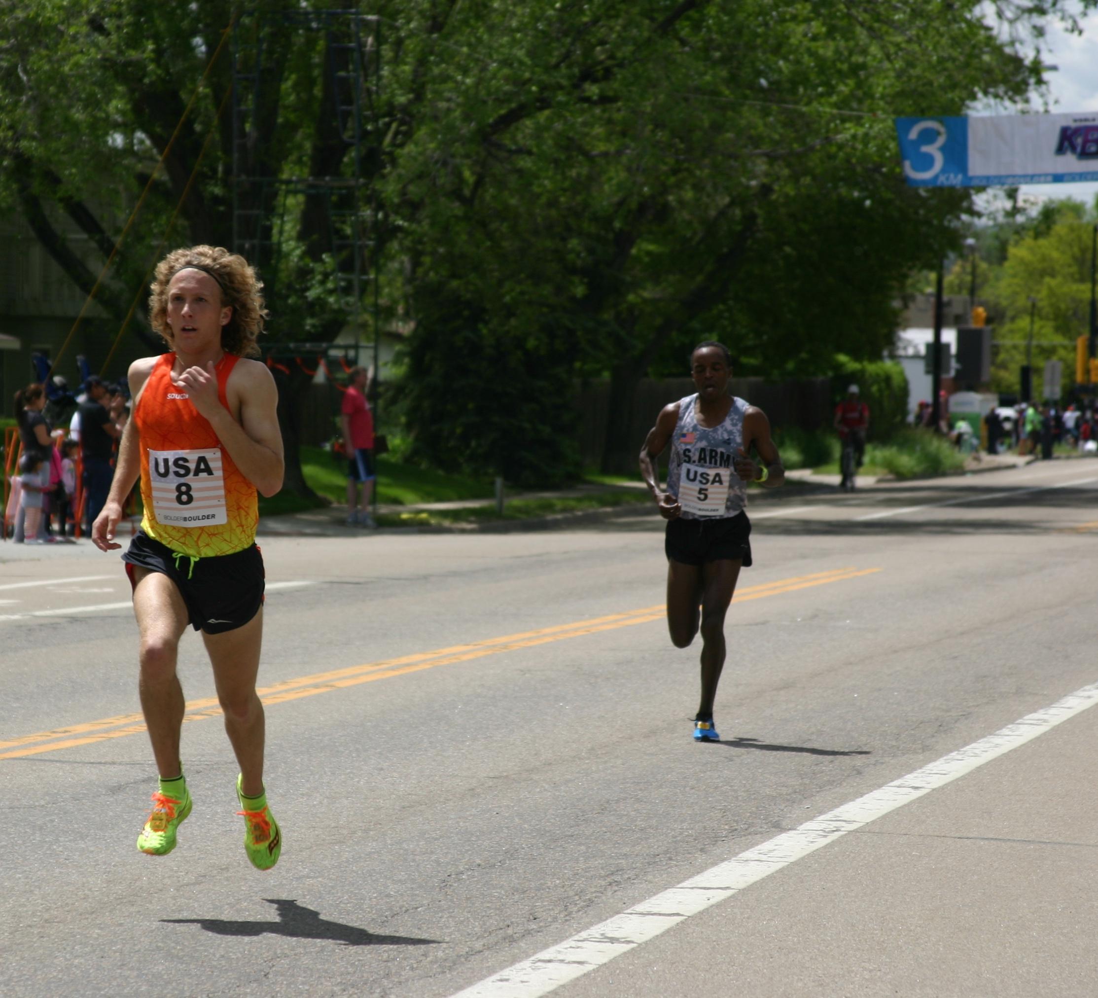 Pro Runners in Flight.