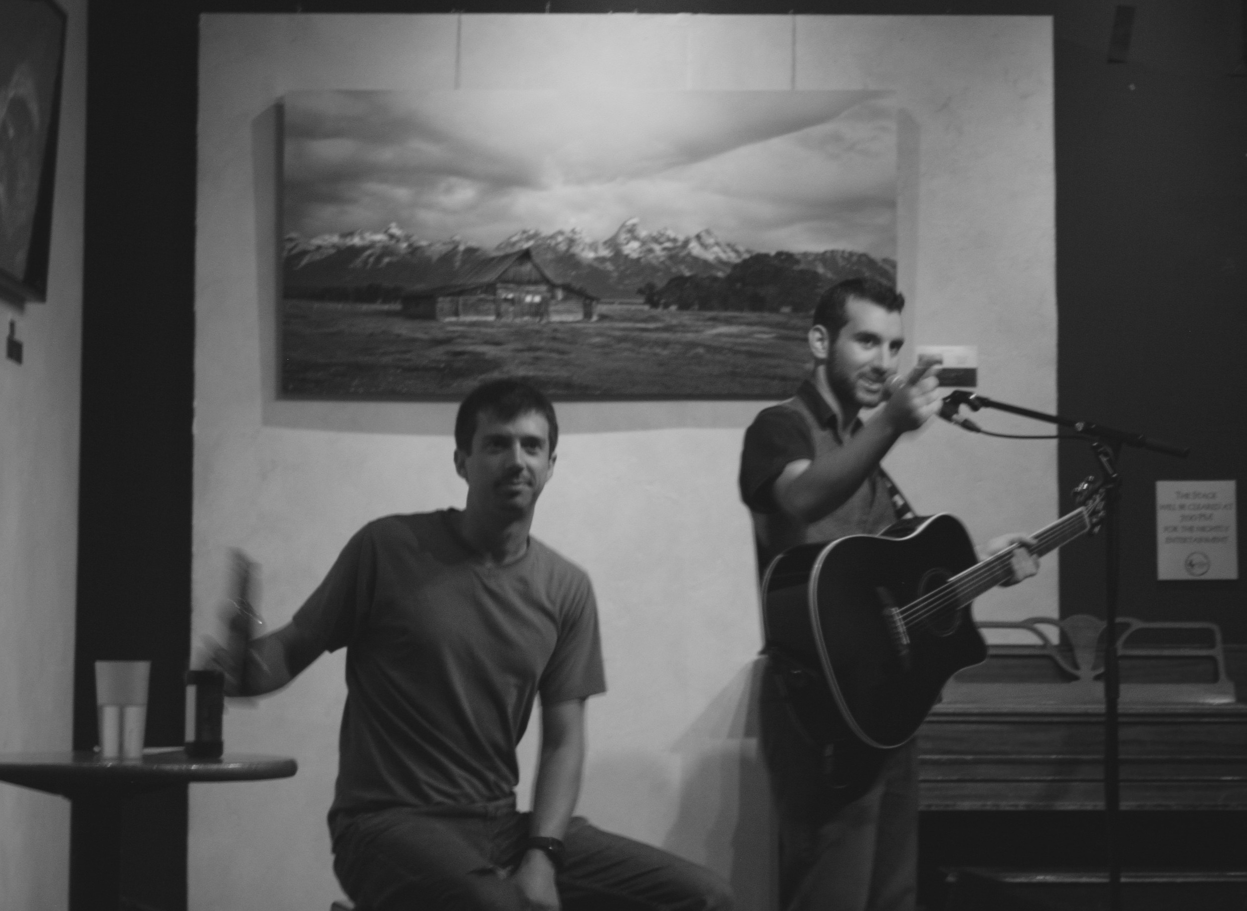 Kyle & Sam Sherman at a recent   Laughing Goat   performance. Photo Credit:   Hannah Oreskovich