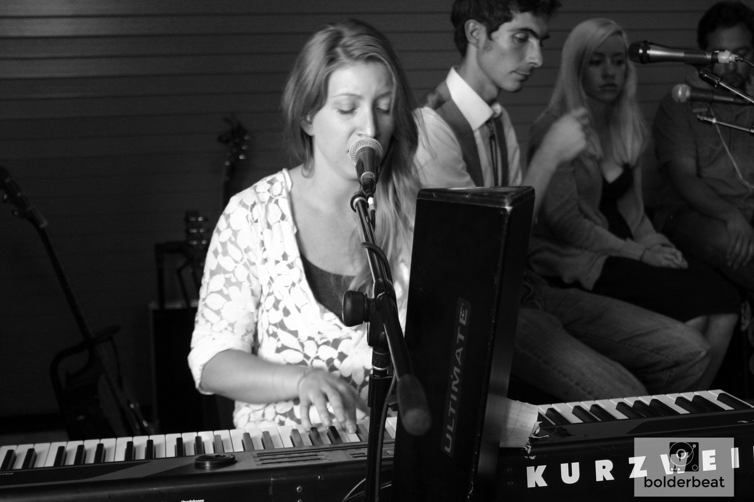 emily and her kurzweil. PHOTO CREDIT:    HANNAH ORESKOVICH