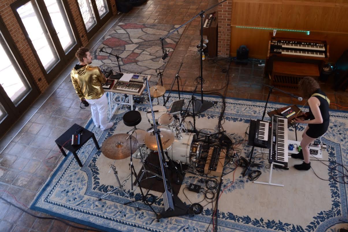 Recording at The Spot Studios.