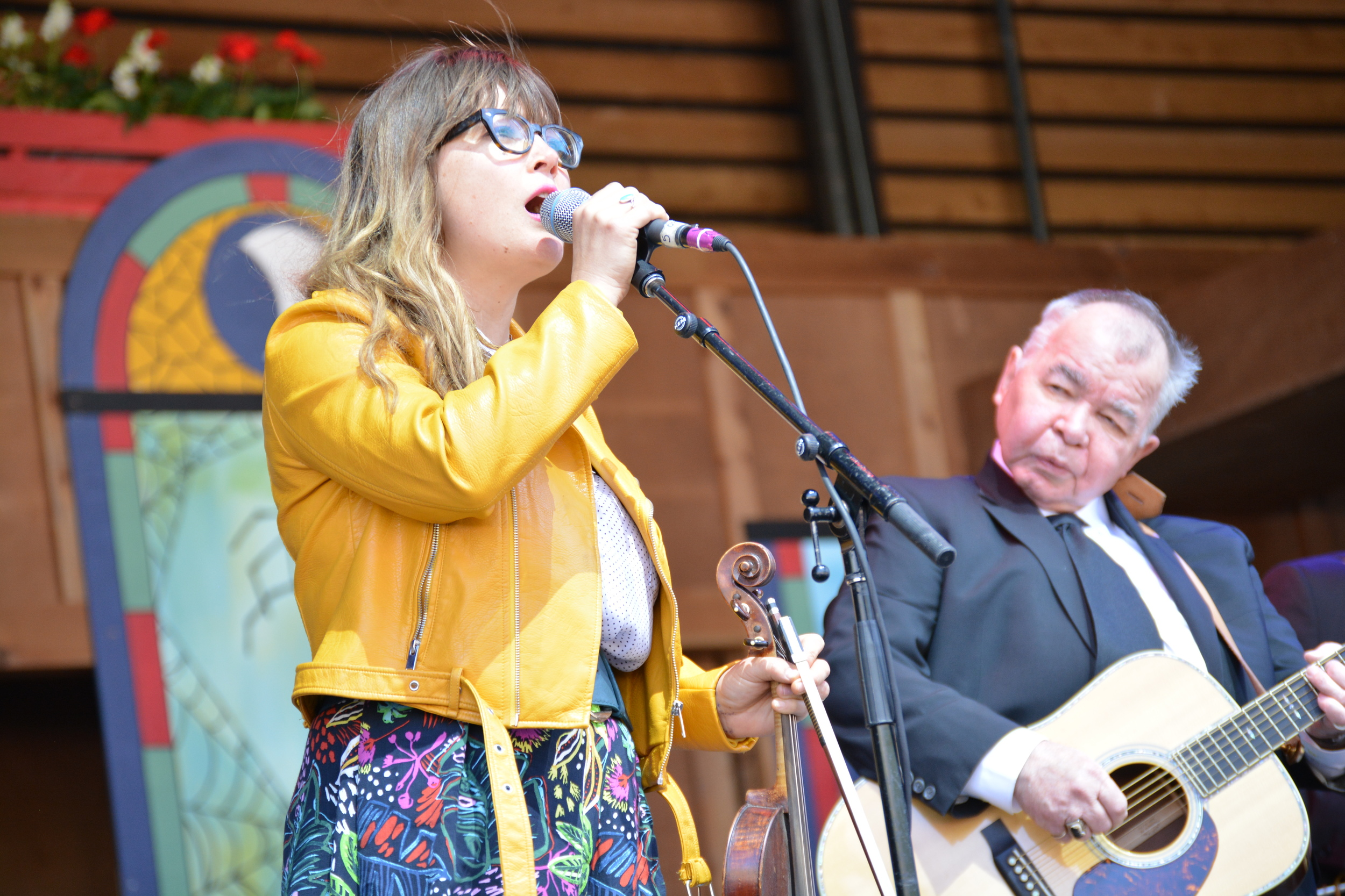 Sara Watkins singing with John Prine.