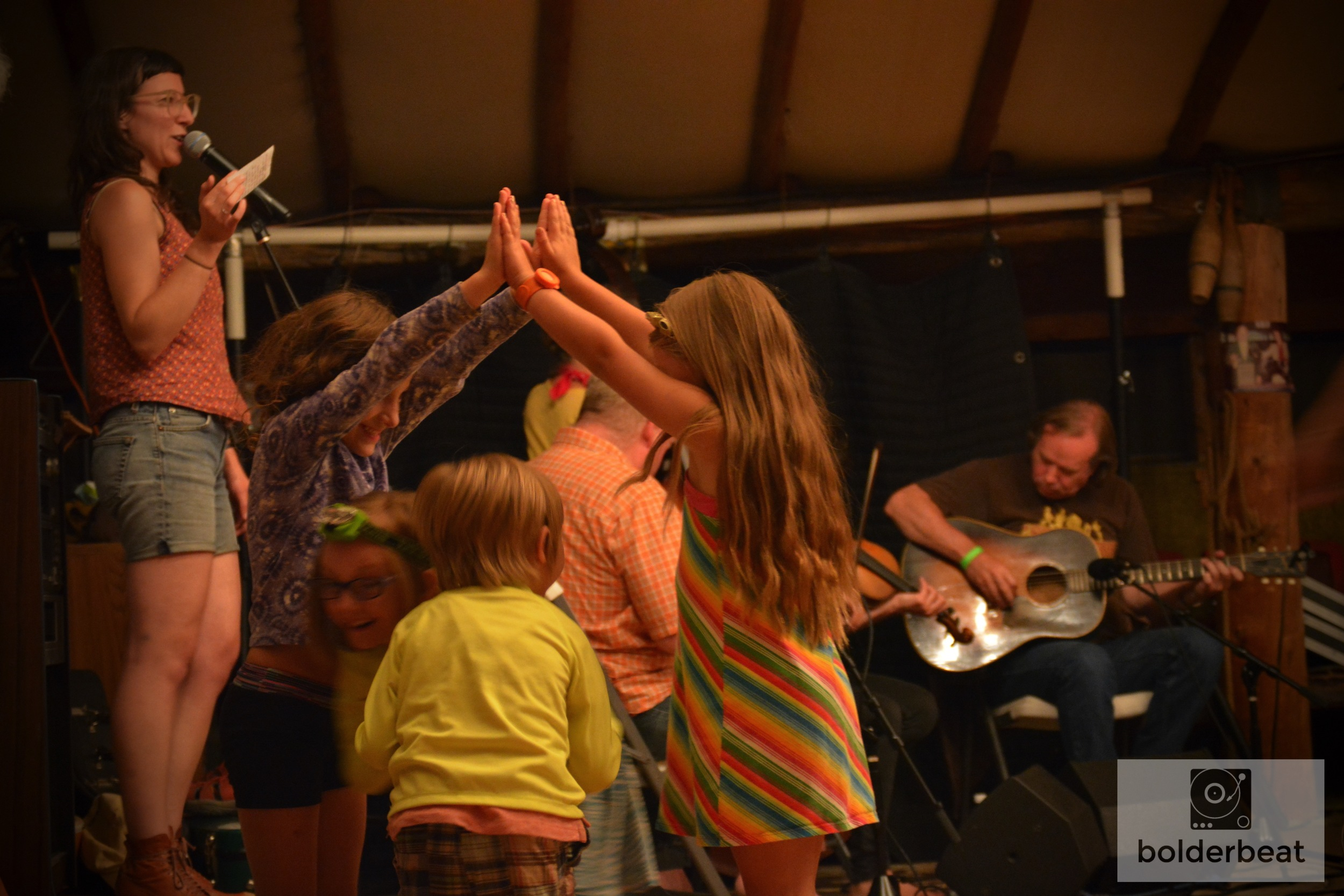 An afternoon barn dance was held at CROMA festival especially for families. Dances that are less complex were taught so young kids could follow the dance and have fun.