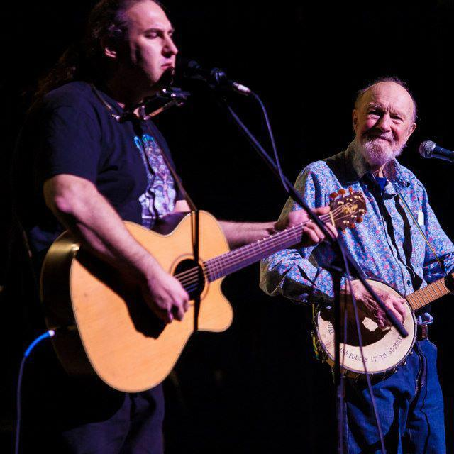 Silent Bear and the late Pete Seeger.Photo Credit: Skyhook Entertainment