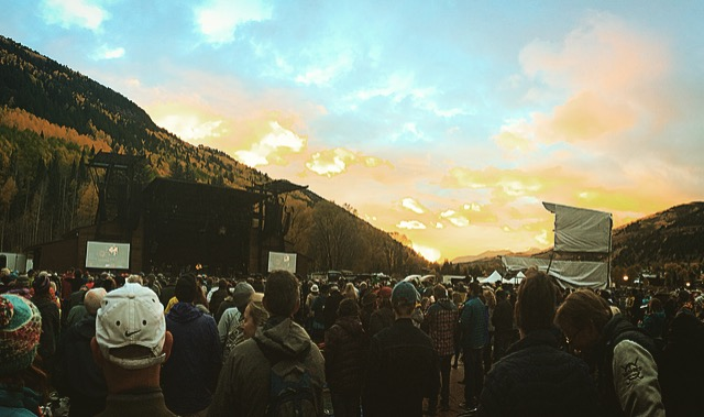 Sunset at the stage.