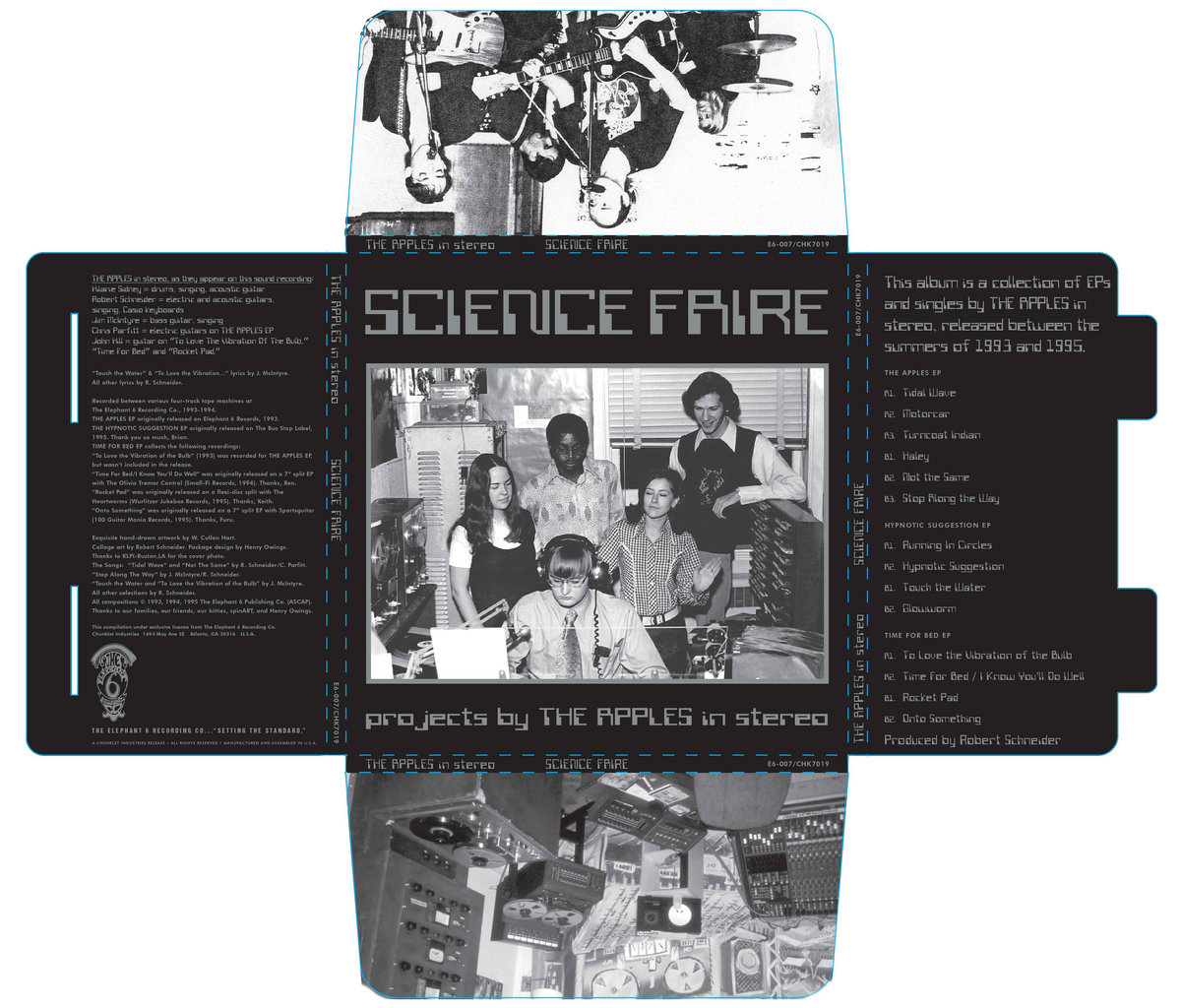 The box for the limited edition  Science Faire  vinyl set via chunklet industries.