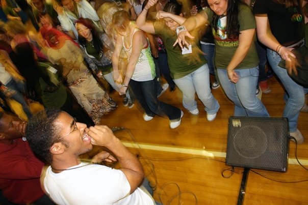 "Jon performing at DSA's ""Peacejam Event"" in 2009."
