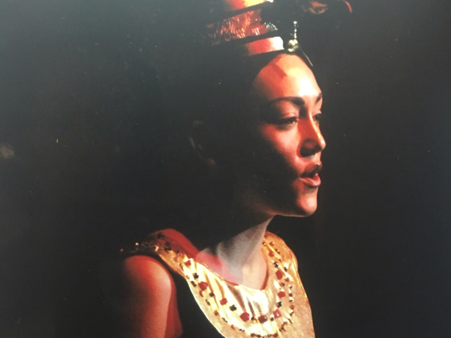 Julie starring in DSA's production of  Aida .
