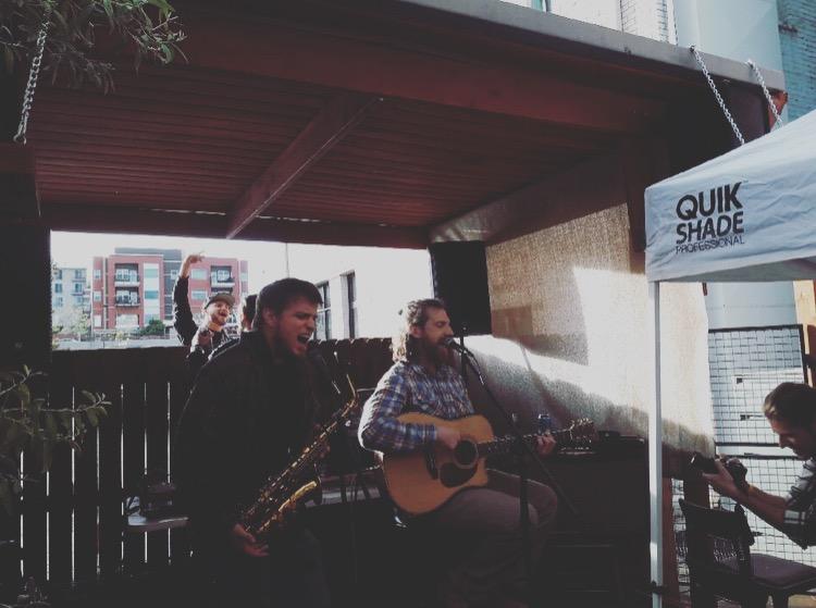 Jeremy Smith & Brian Duggan at Carbon Cafe & Bar.