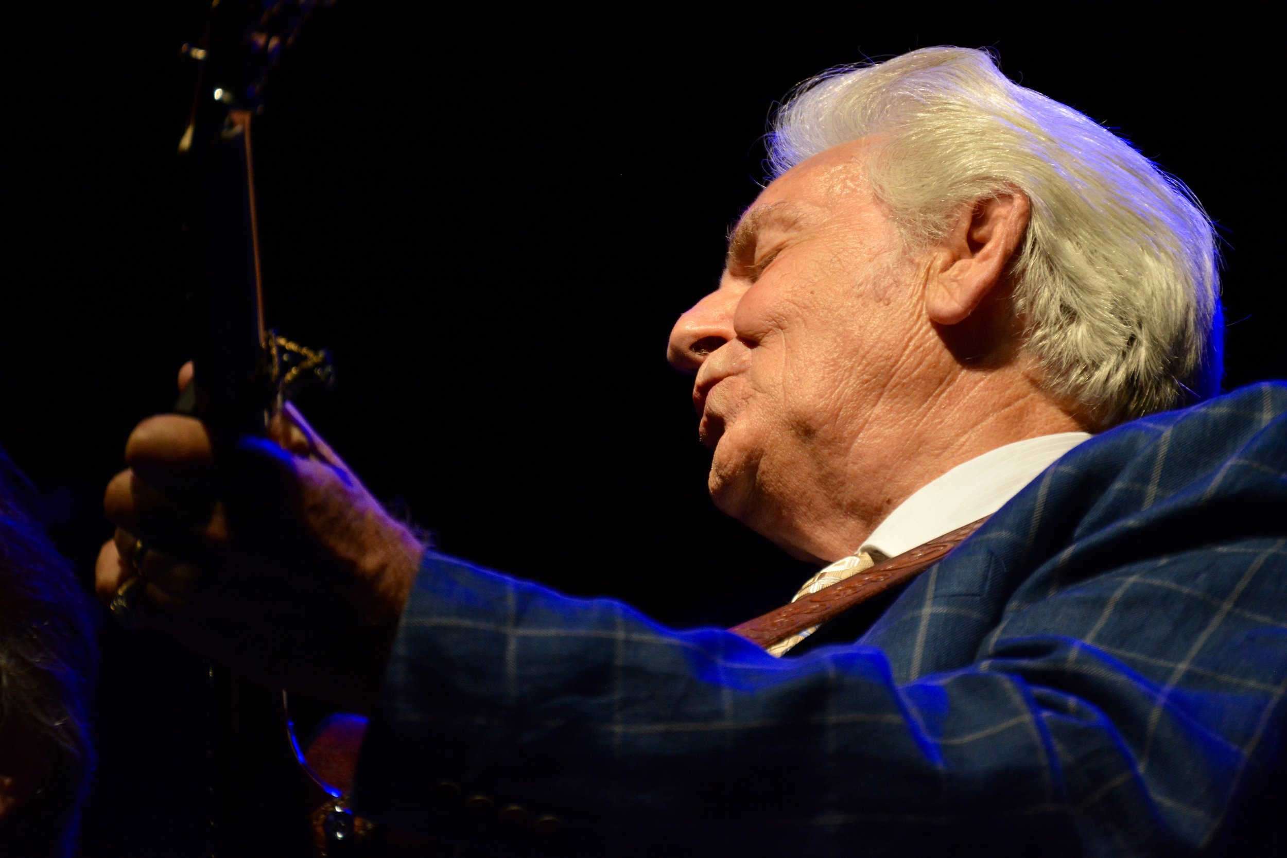Del McCoury, one of the last first-generation bluegrass musicians still performing. He played with Bill Monroe's Blue Grass Boys.jpg