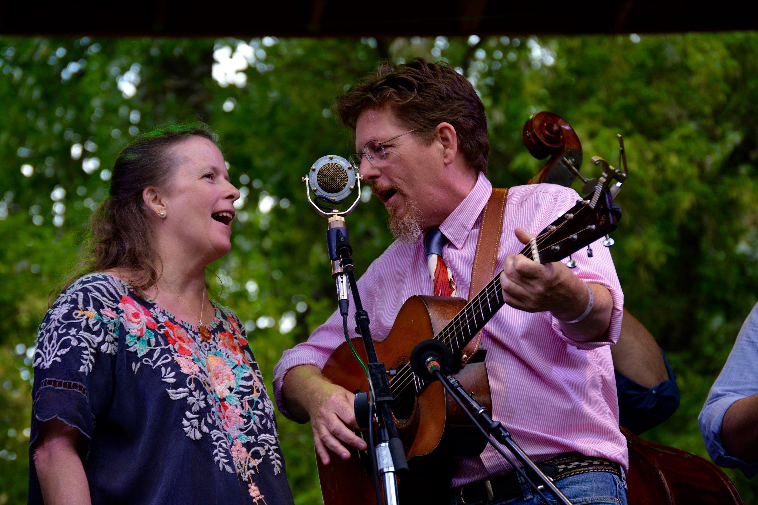 Tim O'Brien sings a duet with his partner.jpg