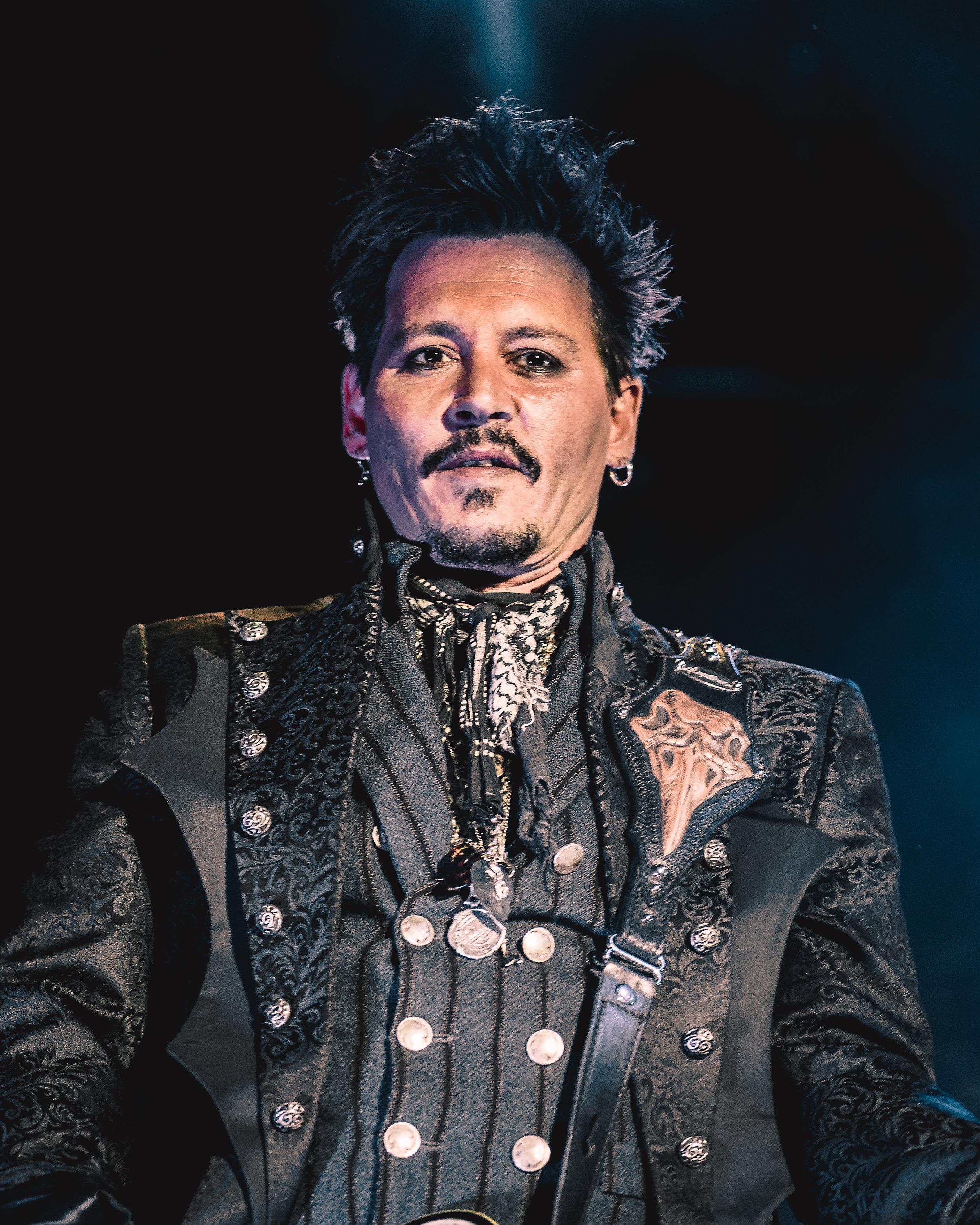 Johnny Depp of Hollywood Vampires.