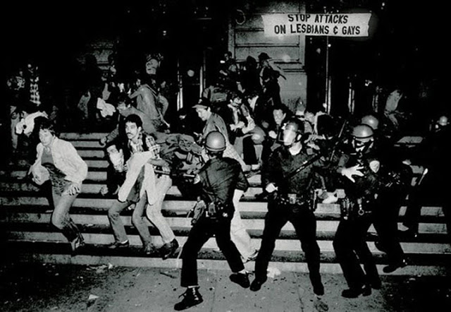 The riots at Stonewall. Photo credit unknown.