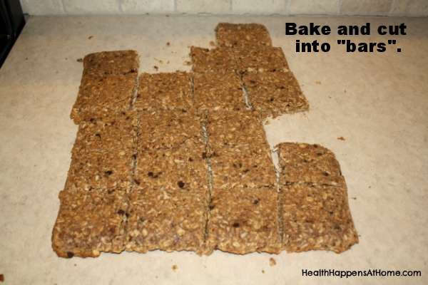 cut up granola bars