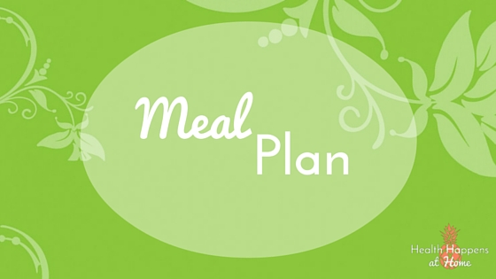 A weekly view of meal planning