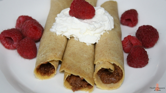 A simple crepe recipe inspired by a trip to Paris, France. Read now or pin for later. - Health Happens at Home