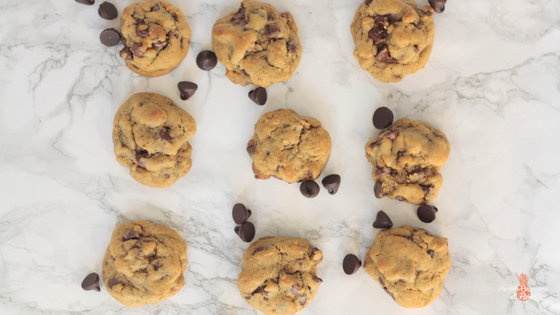 A healthier chocolate chip cookie. Read now or pin for later. - Health Happens at Home