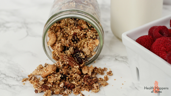 Cranberry Orange Ancient Grain Granola Recipe. #thereciperedux - Read now or pin for later