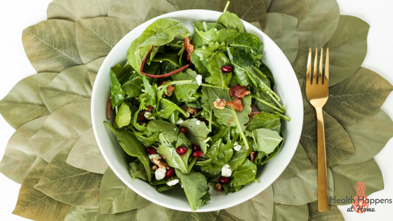 Power Greens Salad with Maple Dressing. Read now or Pin for late. - Health Happens at Home