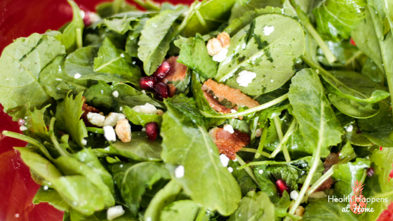 Power Greens Salad with Maple Dressing. Read now or pin for later. - Health Happens at Home
